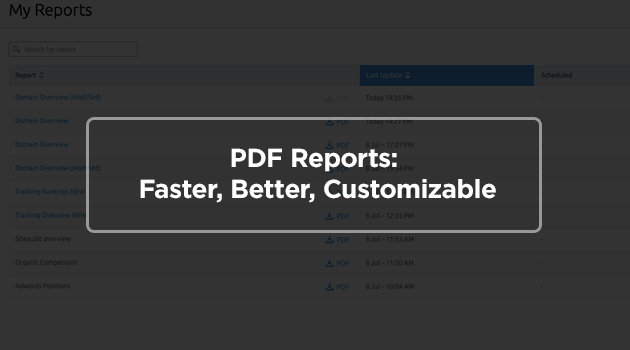 PDF Reports update news preview picture