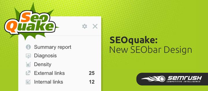 SEMrush: SEOquake: New SEObar Design image 1