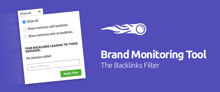 SEMrush: Brand Monitoring Tool: Tracking Backlinks image 1