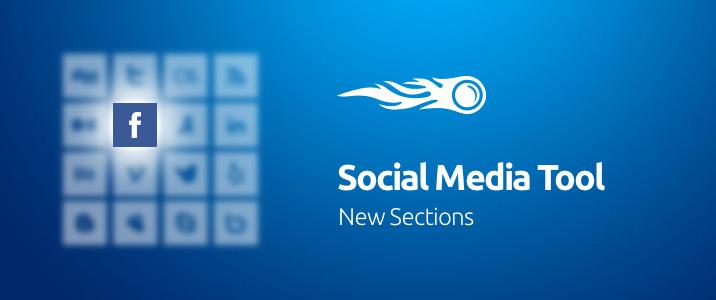 SEMrush: Social Media Tool: New Sections image 1