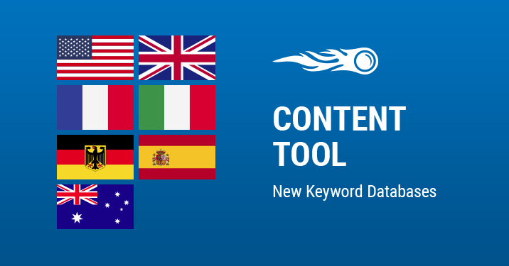 SEMrush: Content Tool: New Keyword Databases image 1