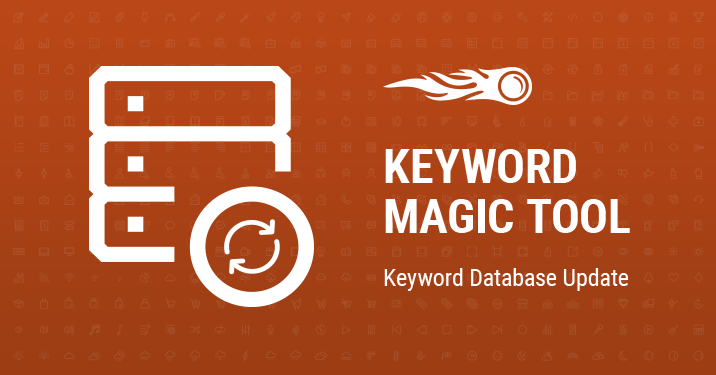 keyword magic tool keyword database update banner