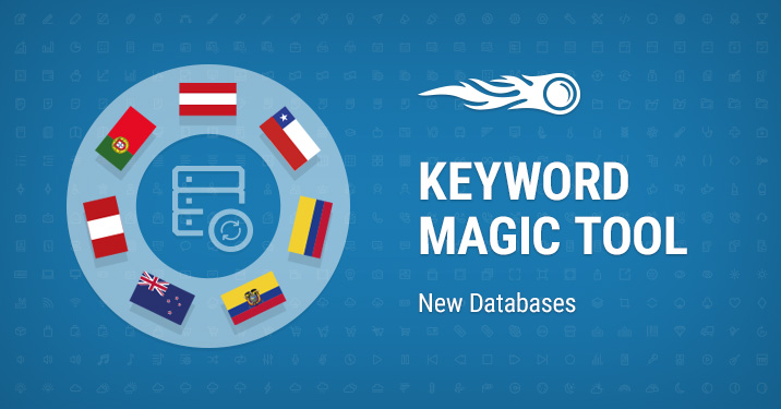 Keyword Magic tool New databases banner