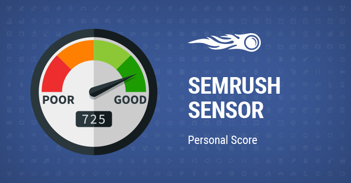 SEMrush Sensor Personal Score banner